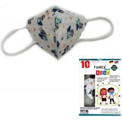 Παιδική μάσκα προστασίας FAMEX POLI FFP2  με φιλτράρισμα , 10 τμχ ,σχεδιο Astrokid.